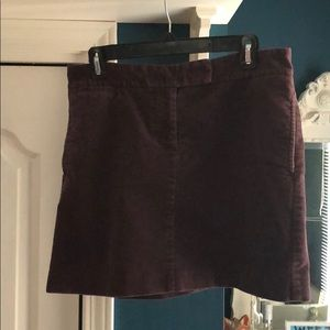 Purple/eggplant JCREW factory corduroy skirt